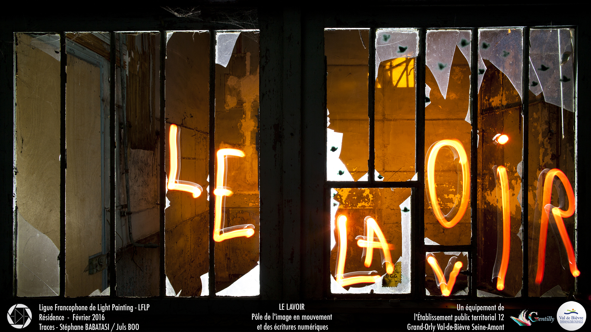 "Exposition ""Le Lavoir version Light Painting"""